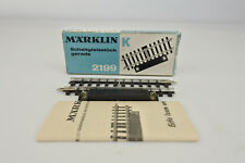 MARKLIN HO SCALE 2199 STRAIGHT SWITCH TRACK SECTION K TRACK AC-3RAIL