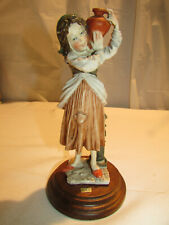 Giuseppe Armani Girl With Water Jug Figurine Gullivers Travels c 1980s Italy 3V1