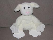 BABY ANIMAL ADVENTURE STUFFED PLUSH LAMB SHEEP TEETHER TOY CREAM IVORY 2005