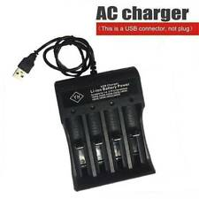 Smart USB Battery Charger for Rechargeable 16340 10440 16650 18350 Batteries US