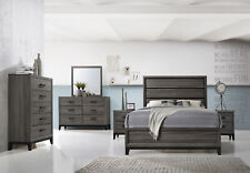 Kings Brand Furniture – Ambroise 6-Piece King Size Bedroom Set, Grey / Black