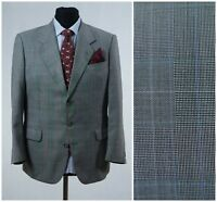 Mens Prince of Wales Check Sports Jacket Blazer ODEMARK SIZE L Large UK 40 Short
