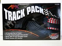 AFX 21045 GENUINE slot car track. TRACK PACK 40 pieces 26 feet of track NIB