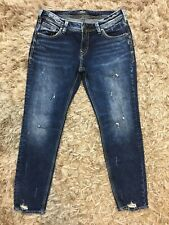 1b3fffbee62 New ListingSilver Jeans Sam Womens Size 32x29 Destroyed Sandblasted Stretch  NWOT