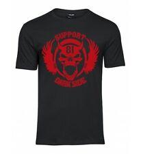 Support 81 Dark Side Shirt mit 1 Farbigen 666 Skull Print SLIM Version