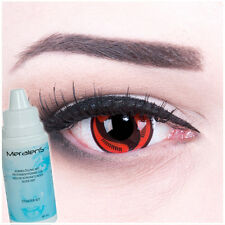 "Coloured Contact Lenses ""Itachi`s Mangekyou Sharingan"" + Free Case, Halloween"