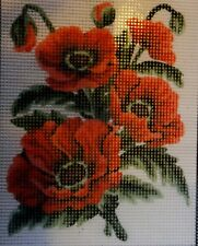 """""""Poppies"""" Printed Needlepoint Tapestry Canvas 3149"""