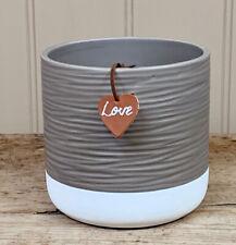 Ceramic Ridged Plant Pot