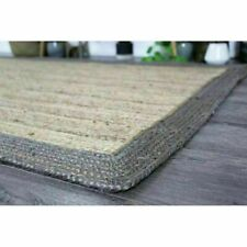 Rug 100% Natural Jute 2x4 Feet Rectangle Braided Floor Mat Reversible Area Rugs