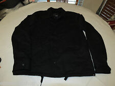 Men's Hurley coat jacket large lg L black 001 NEW NWT surf skate brand cotton