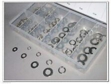 250 pc Flat and Lock Washer Assortment Stainless Steel