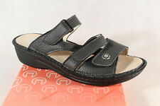Turm Ladies Mules Slippers Sandals Real Leather Grey New