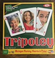 Tripoley Board Game By IDEAL Michigan, Rummy, Hearts & Poker 2010 New & Sealed