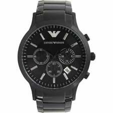 Reloj Cronógrafo nuevo EMPORIO ARMANI AR2453 para hombre Negro - 2 Año De Garantía