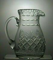 """LEAD CRYSTAL CUT GLASS WATER JUG - 8 2/3"""" (22 cm) TALL"""