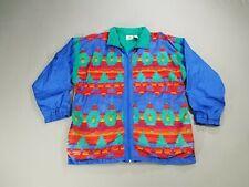 VTG 90s Aztec Print Windbreaker Jacket Large Laura Katherine
