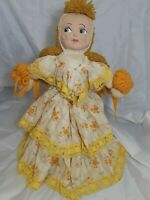 "Cloth Handmade Doll 19"" Tall by Gertrude"