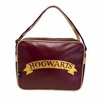 Harry Potter Hogwarts School Retro Messenger Bag - Shoulder Courier Uni Satchel