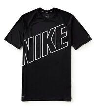 Nwt Nike Men'S Logo Big & Tall Hydroguard Swim T-Shirt Black