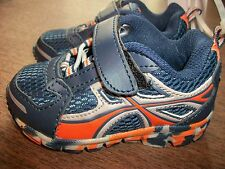 Boys Shoes sz 6 JUMPING BEANS LilTiltBlue w/Orange, Gray, Elastic & a Strap NWT