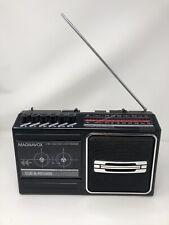 Vintage Magnavox AM/FM Radio Cassette Recorder D7160 Tested Working