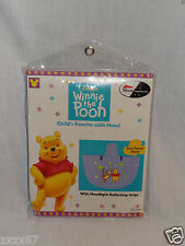 New In Package Disney Winnie The Pooh Child'S Poncho With Hood Size 4+