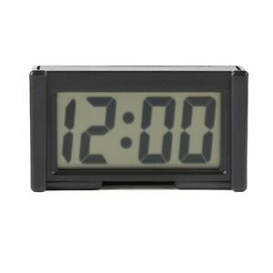 Mini LCD Screen Digital Clock Self-Adhesive Interior Car Auto Desk Dashboard UK