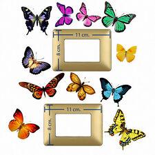 Adesivi decoro interruttori farfalle butterfly Wall decal light switch 11 pz.