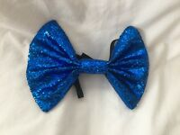 Fancy Dress Costume Large Outfit Party Silver Glitter Bow Tie