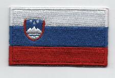 Embroidered SLOVENIA Flag Iron on Sew on Patch Badge HIGH QUALITY APPLIQUE