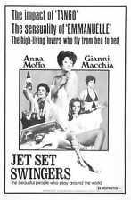 Jet Set Swingers Cartel 02 Letrero De Metal A4 12x8 Aluminio