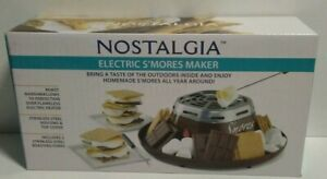 Nostalgia Fondue Electric Stainless Steel S'mores Maker with 4 Compartment