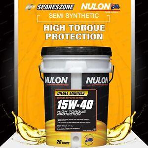 Nulon Semi Synthetic 15W-40 High Torque Diesel Engine Oil (20L) SSD15W40-20