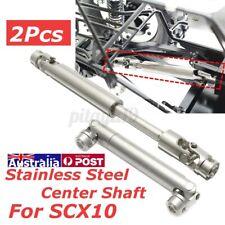 2X Steel Center Universal Drive Shaft Axial SCX10 1:10 RC Car Crawler .
