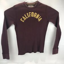 Hollister Mens Long Sleeve Shirt Athletic Division Maroon Size Small