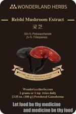 Red Reishi Ganoderma Lucidum Extract Powder 100 Grams, 50% polyose,2% triterpene