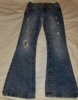 Aeropostale Hailey Skinny Flare distressed jeans, size 00 SHORT