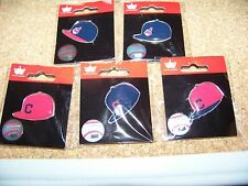 5 - Cleveland Indians logo baseball cap pins hat pin NEW for 2015
