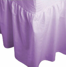 Double Size Plain Fitted Valance Bed Sheet