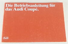 Betriebsanleitung Audi Coupe Typ 81 Stand 01/1982