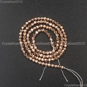 """AAA  Natural Rose Gold Hematite Gemstones Faceted Round Beads 4mm 6mm 8mm 16"""""""