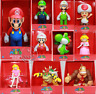 "Super Mario 9"" Action Figure Collection Luigi Yoshi Toad Bowser + Original Box"