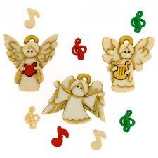 Un coro di angeli, dress It Up Bottoni, Natale, scrapbooking, artigianale