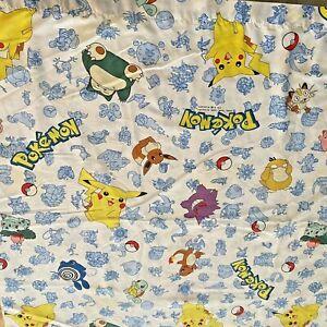 Vintage Pokemon Twin Flat Sheet 1998 Nintendo