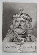 Gravure Antique print THEODORIC I 1er Comte de Hollande Flipart Count of Holland