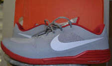 NIB Nike LUNAR ULTIMATE TR Gray, White & Red Cross Trainer Athletic Shoes - 14