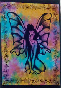 Wonderful Wall Hanging Cotton Small Tapestry Butterfly Angel Design Poster Art