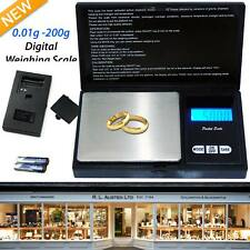 0.01G to 200G Mini Digital Electronic Gold Jewellery Weighing Pocket Scales