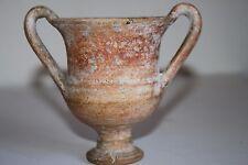 Antique grecque hellénistique Pottery kantharos vin Cup 3rd siècle avant Jésus-Christ calice