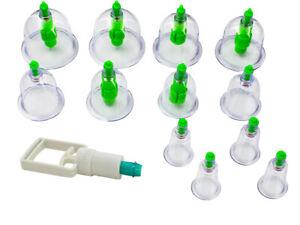 Schröpfgläser Set Vakuum Massage Schröpfen Saugglocken Pumpe Neu Akupunktur Magn